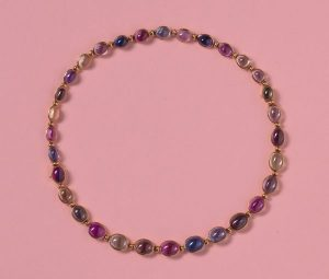 Vintage Bulgari Multi Colour Sapphire Necklace, 71.25cts, 18ct Yellow Gold