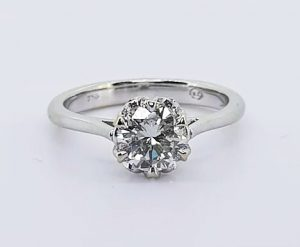 Diamond Solitaire Engagement Ring, 0.85 carats, 18ct White Gold