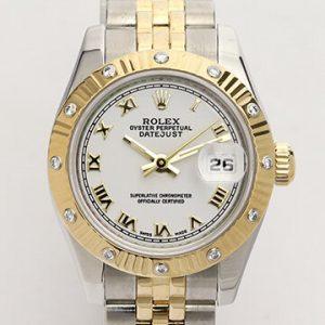 Rolex Oyster Perpetual Lady Datejust 179313 Diamond Bezel Watch