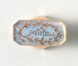 18th Century French Opaline and Gold Panel Ring