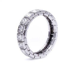 Antique Art Deco 1.40ct Diamond Platinum Eternity Ring