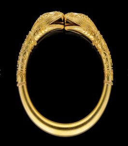 Antique Victorian Double Snake Gold Bangle Bracelet