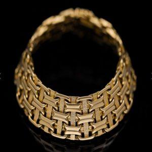 Hermès Vintage Woven 18ct Gold Bracelet
