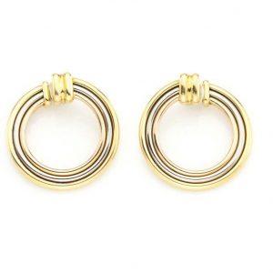 Vintage Cartier Trinity 18ct gold hoop earrings