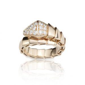 Bulgari Serpenti Diamond 18ct Yellow Gold Ring