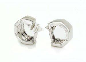 Audemars Piguet Diamond Set Clip On Earrings, 18ct White Gold