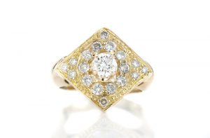 Vintage Diamond 18ct Gold Ring, Circa 1960s