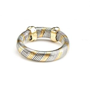 Vintage Cartier 18ct Yellow Gold and Steel Band Ring