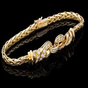 Vintage Bvlgari Diamond 18ct Gold Bracelet