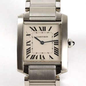 Cartier Tank Francaise Midsize Stainless Steel Wrist Watch