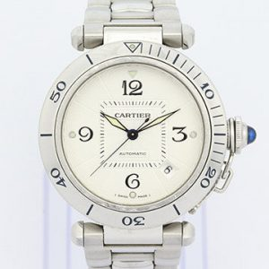 Cartier Pasha 38mm Stainless Steel Automatic, with Steel Bracelet