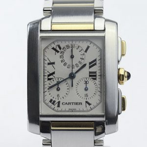 Cartier Tank Francaise Chronograph Stainless Steel and Gold Quartz