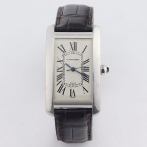 Cartier Tank Americaine 18ct White Gold 1741 Automatic, Box and Papers