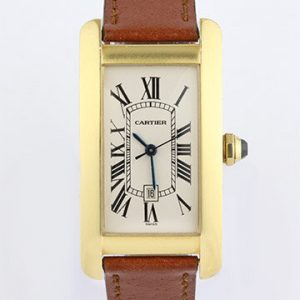 Cartier Tank Americaine Mid Size 18ct Yellow Gold Automatic Watch