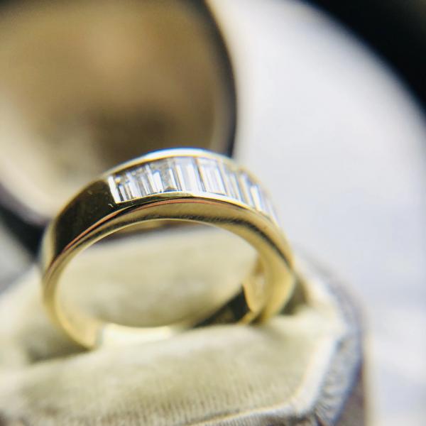 1.90ct Baguette Cut Diamond Half Eternity Ring