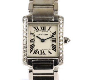 Cartier Tank Française Ladies 18ct White Gold and Diamond, 20mm