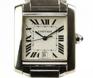 Cartier Gents 2366 Tank Française 18ct White Gold 28mm Auto, Papers