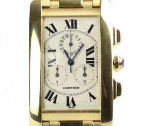 Cartier Gents Tank Américaine 1730 Chronograph 18ct Yellow Gold