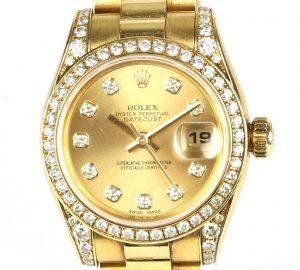 Rolex Ladies 179158 Datejust 18ct Yellow Gold and Diamond Watch