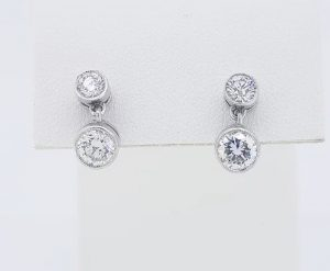 1.10ct Diamond Drop Earrings in 18ct White Gold
