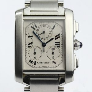 Cartier Tank Francaise 2303 Chronograph in Stainless Steel