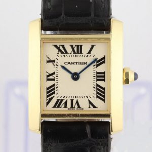 Cartier Tank Francaise Ladies 18ct Yellow Gold 2385 Quartz Watch