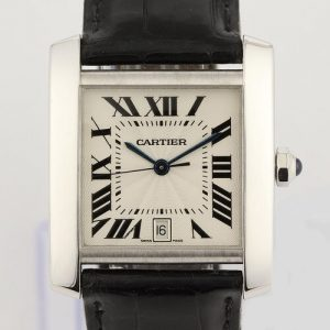 Cartier Tank Francaise Gents Automatic 18ct White Gold Deployant Clasp