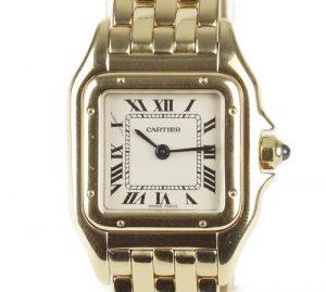 Cartier Panthère Ladies 18ct Yellow Gold 22mm Quartz Bracelet Watch