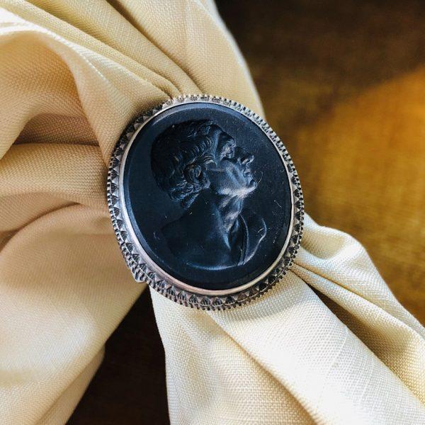 Antique Georgian Wedgwood & Bentley Signet Ring