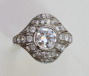 Art Deco 1.50ct Diamond and Platinum Dress Ring