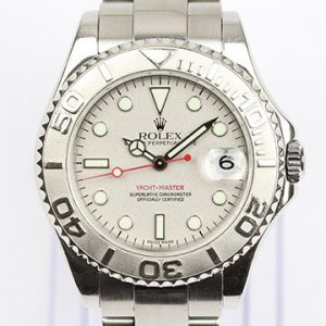 Rolex Yacht Master Midsize 35mm Stainless Steel with Platinum Insert