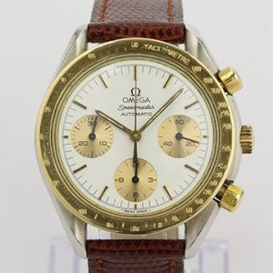 Omega Speedmaster Reduced 39mm Automatic Chronograph Steel Gold