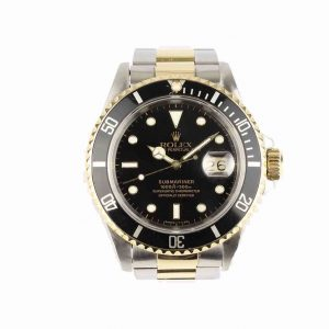 Rolex Submariner Date, 16613, Black Dial, Steel and Gold