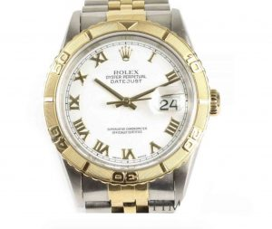 Rolex Mens Datejust 16263 Turn-O-Graph 36mm Steel and Gold