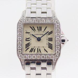 Cartier Ladies Santos Demoiselle Diamond 18ct White Gold, 2018 Service