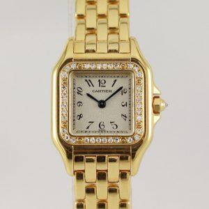 Cartier Panthere Ladies Original Diamonds 18ct Yellow Gold 22mm, Box