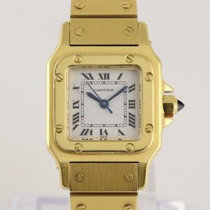 Cartier Santos Ladies Automatic in 18ct Yellow Gold, With Box