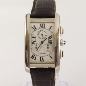 Cartier Tank Americaine Gents 18ct White Gold 2312 Chronograph, Box