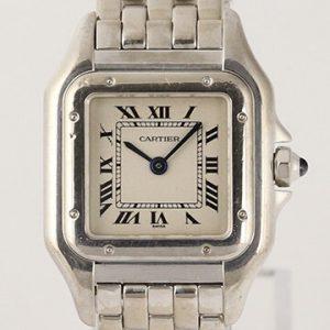 Cartier Panthere Ladies 18ct White Gold Bracelet Quartz Watch