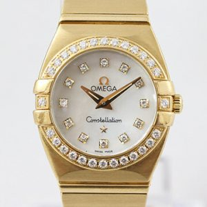 Omega Constellation Double Eagle 18ct Yellow Gold Watch with Diamonds