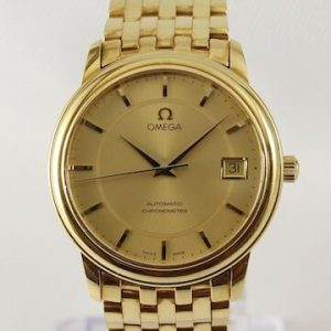 Omega 18ct Yellow Gold 35mm Automatic Chronometer, Boxed