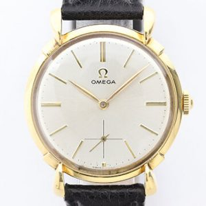 Omega Vintage Gents 18ct Yellow Gold Manual Watch, Circa 1950s