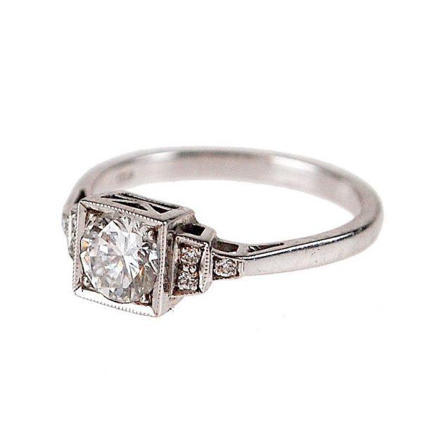 Vintage Art Deco Style 0.70ct Diamond Ring