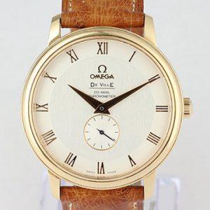 Omega De Ville Prestige 18ct Rose Gold 39mm Chronometer, With Papers