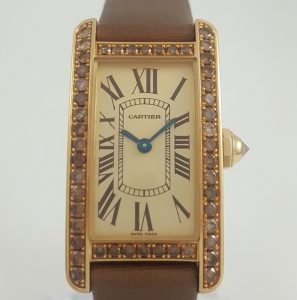Cartier Tank Américaine Ladies Rare 18ct Yellow Gold 2482 Watch