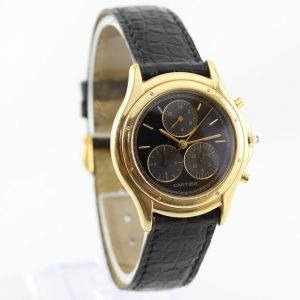 Cartier Cougar 33mm Chronograph in 18ct Yellow Gold