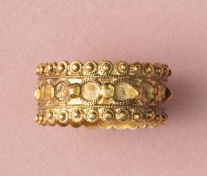18th Century Antique Georgian Gold Ring, Circa 1781