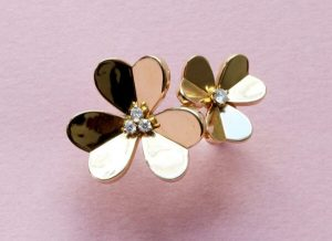 Van Cleef and Arpels 18ct Yellow Gold Frivole Flower Ring, Signed