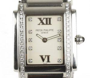 Patek Philippe Twenty-4 Stainless Steel 4910 Ladies 25mm Diamond Dial