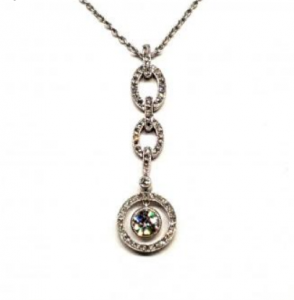 Antique Belle Epoque Diamond Drop Pendant